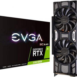 EVGA GeForce RTX 2060 SUPER SC BLACK GAMING, 8GB GDDR6 256-Bit