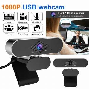 1080P Full HD USB Clip Webcam Auto Focus Web Camera w/Stereo Microphone for PC