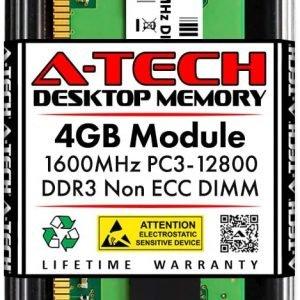 A-Tech 4GB DDR3 1600MHz DIMM PC3-12800