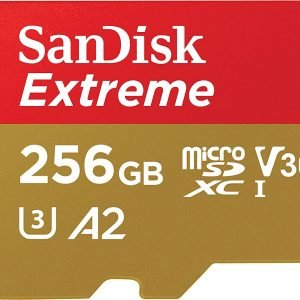SanDisk 256GB Extreme MicroSDXC UHS-I Memory Card with Adapter - C10, U3, V30, 4K, A2, Micro SD - SD