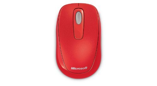 Microsoft 1000 Wireless Mobile Mouse RED