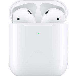 Apple AirPods with Wireless Charging Case.