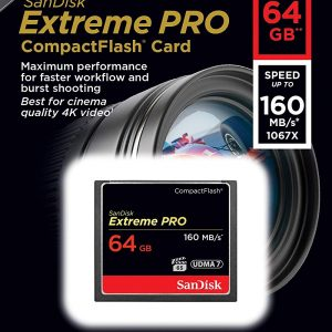 SanDisk Extreme PRO 64GB Compact Flash.