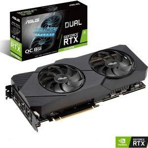 Asus GeForce RTX 2070 Super Overclocked 8G EVO GDDR6 Dual-Fan Edition VR Ready (DUAL-RTX-2070S-O8G-EVO)