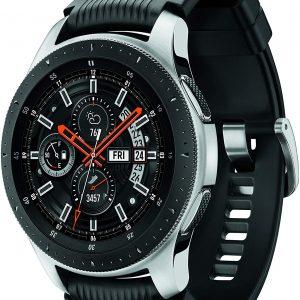 Samsung Galaxy Watch smartwatch (46mm, GPS, Bluetooth) – Silver/Black