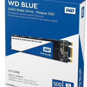 Western Digital 500GB WD Blue 3D NAND Internal PC SSD - SATA III 6 Gb/s, M.2 2280, Up to 560 MB/s - WDS500G2B0B