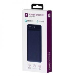 POWER BANK 2E 20000 mAh (QUICK CHARGE) DARKBLUE