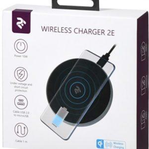 2E Wireless Charging Pad Black (2E-WCQ01-02)