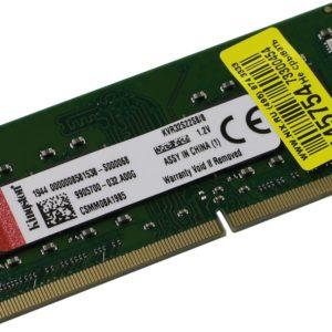 Kingston 8GB 3200MHz DDR4 Non-ECC CL22 SODIMM 1Rx8 (KVR32S22S8/8)