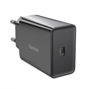Сетевое зарядное устройство Baseus Speed Mini QC Quick Charger 1C 20W EU Black (CCFS-SN01)